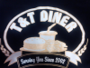 T  and amp; T Diner Logo